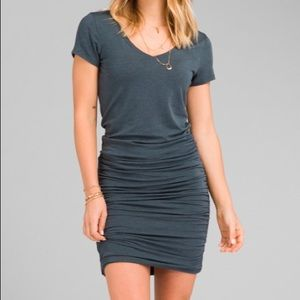 Prana Foundation Dress Sz M Grey Blue Heather